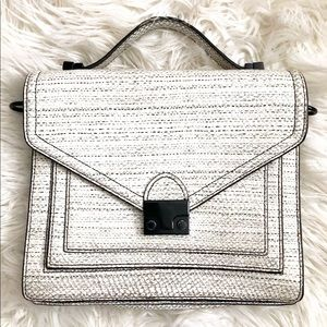 Loeffler Randall Medium Rider Snakeskin AS IS